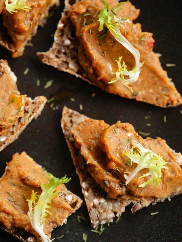 Brotaufstrich aus Süßkartoffel und Shiitakepilzen