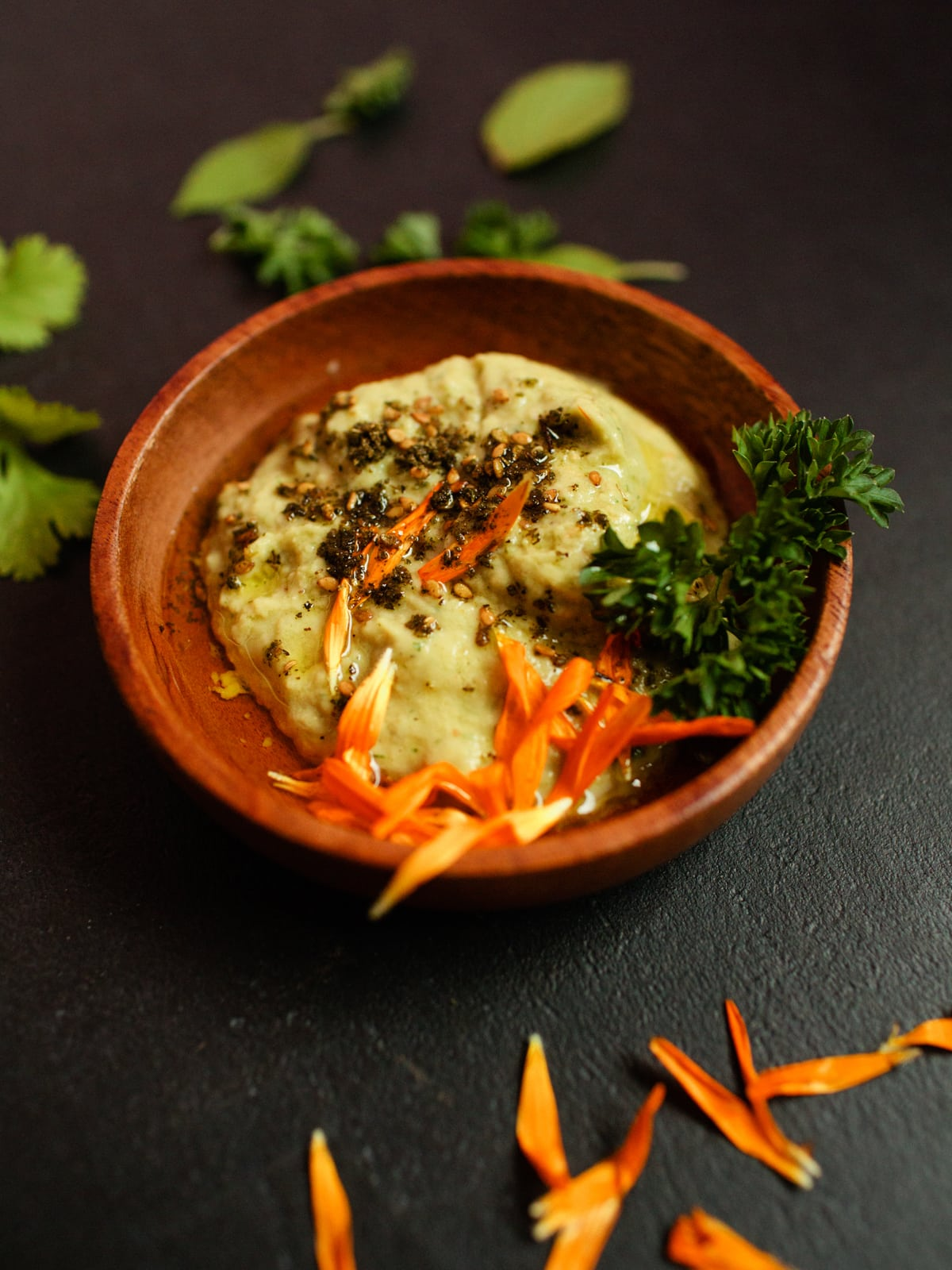 zucchini hummus aus gegrillte zucchini